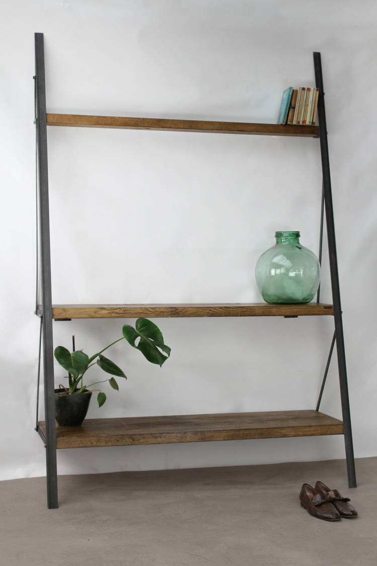 Ready To Ship Custom Ladder Bookcase Konk Custom Handmade Furniture