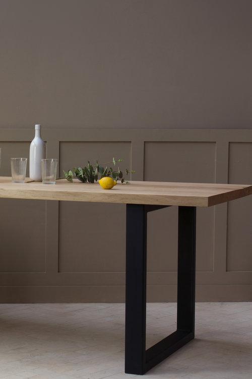 Sage Table Metal Legs Konk Custom Handmade Furniture