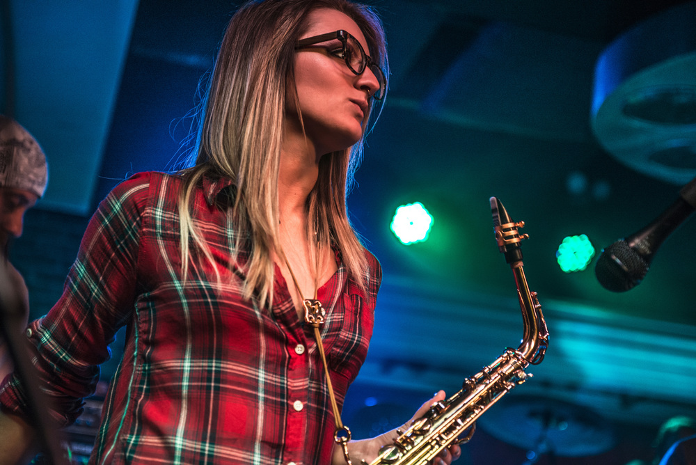 Los Angeles saxophone player Mandy Faddis