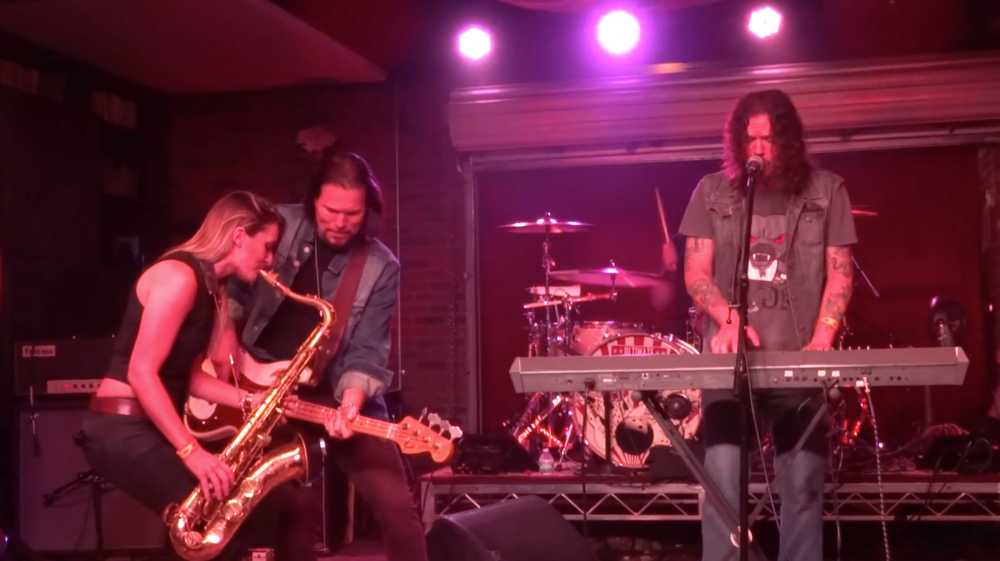 Guns n Roses Dizzy Reed and Mandy Faddis saxophone at Lucky Strike Live Ultimate Jam Night