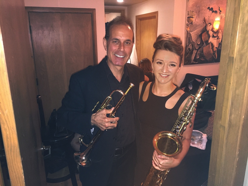 Jazz saxophonist Mandy Faddis and trumpet player Chris Tedesco in Rat Pack tribute