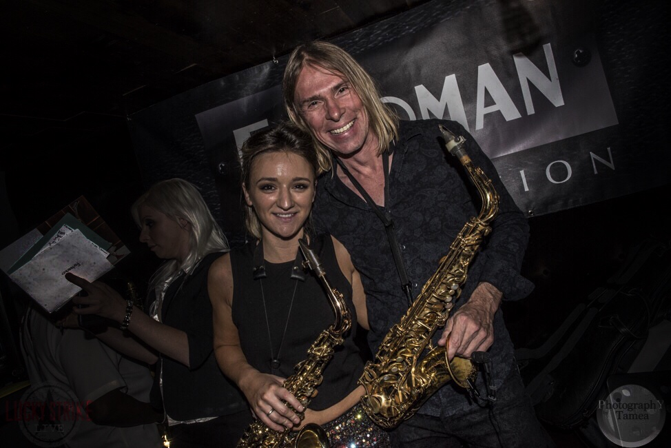 Saxophonists Los Angeles Mandy Faddis and Reinhold Schwarzwald
