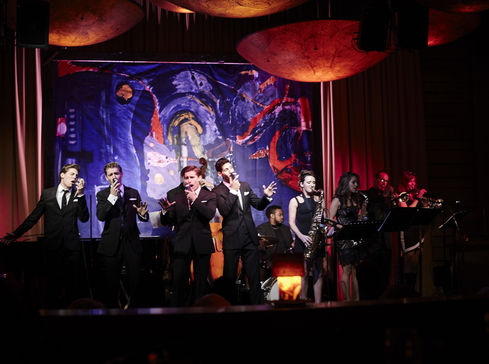 Rat Pack tribute group The Tramps perform alongside Los Angeles jazz saxophonist Mandy Faddis
