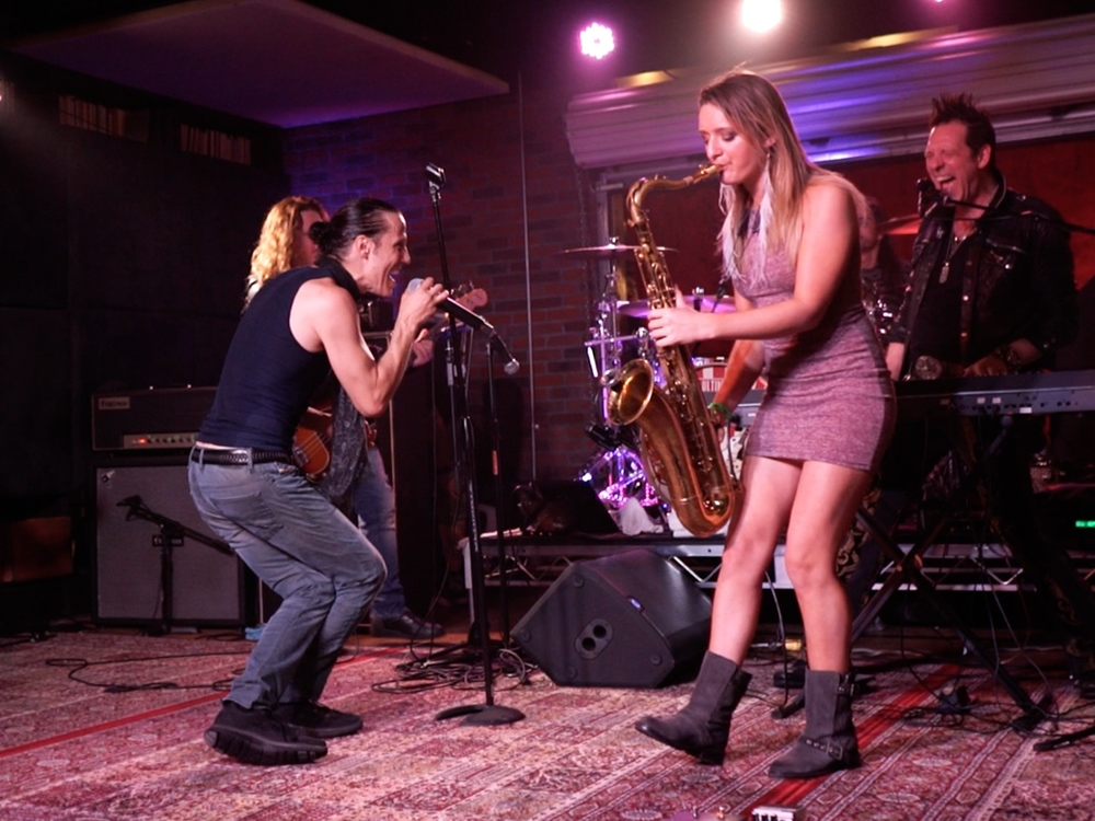 Gary Cherone Extreme and saxophonist Mandy Faddis Lucky Strike Live