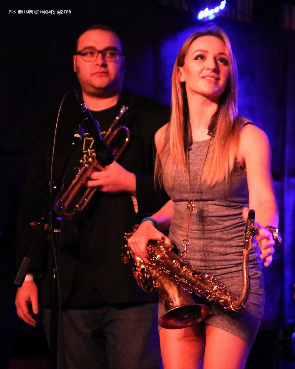 David Miller and Mandy Faddis - trumpet and sax - Highland Horns.jpg