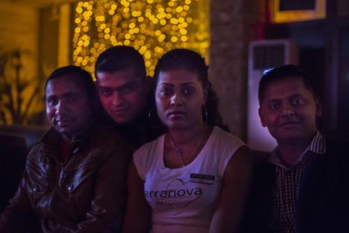 Rita of Ethiopia and the Bangladesh crew at Sports Bar.