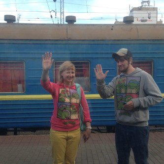 Masha and Sergey say goodbye.