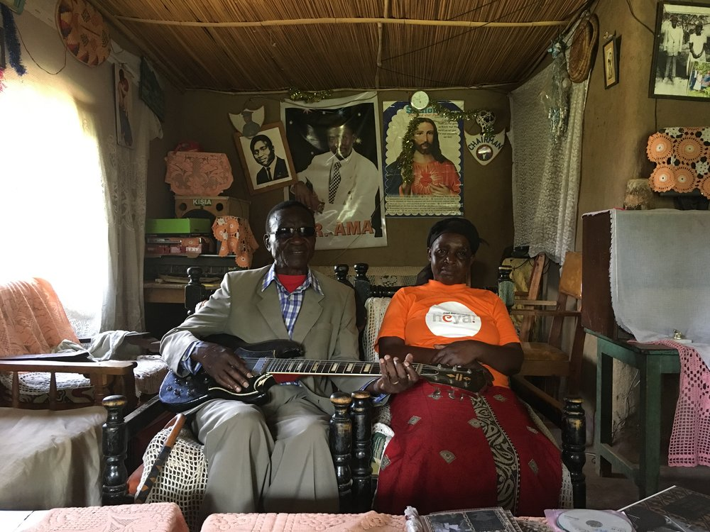Bongo and wife at home