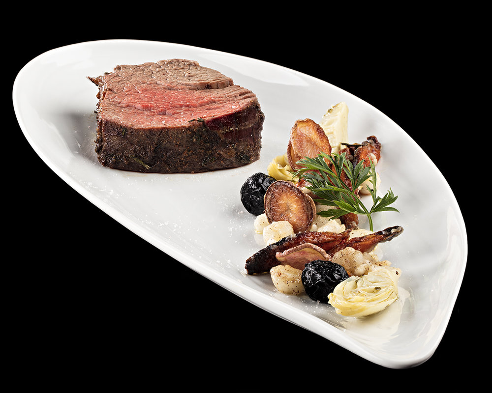 Filet with roasted vegetables and hominy.jpg