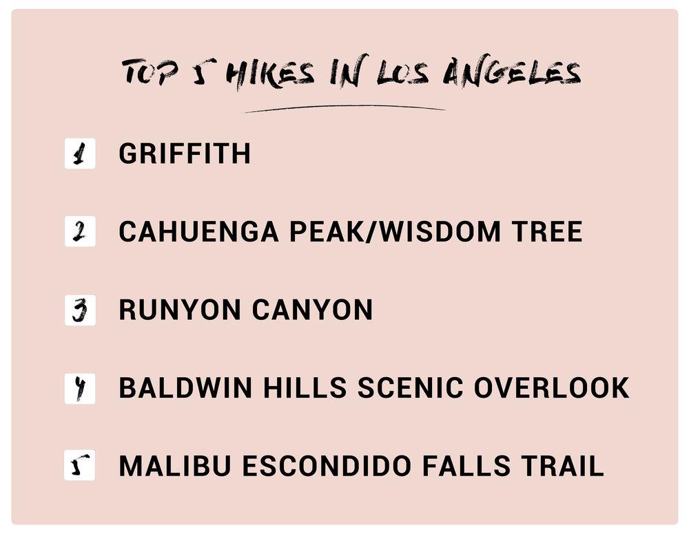 TOP 5 HIKES IN LOS ANGELES