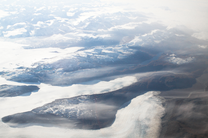 Above: Ancient Glaciers Melting and Receding