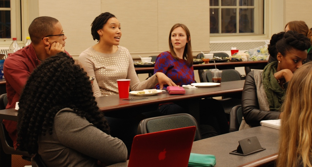 Students asking questions at Alternatives to Incarceration panel at NYU Law School, March 2016