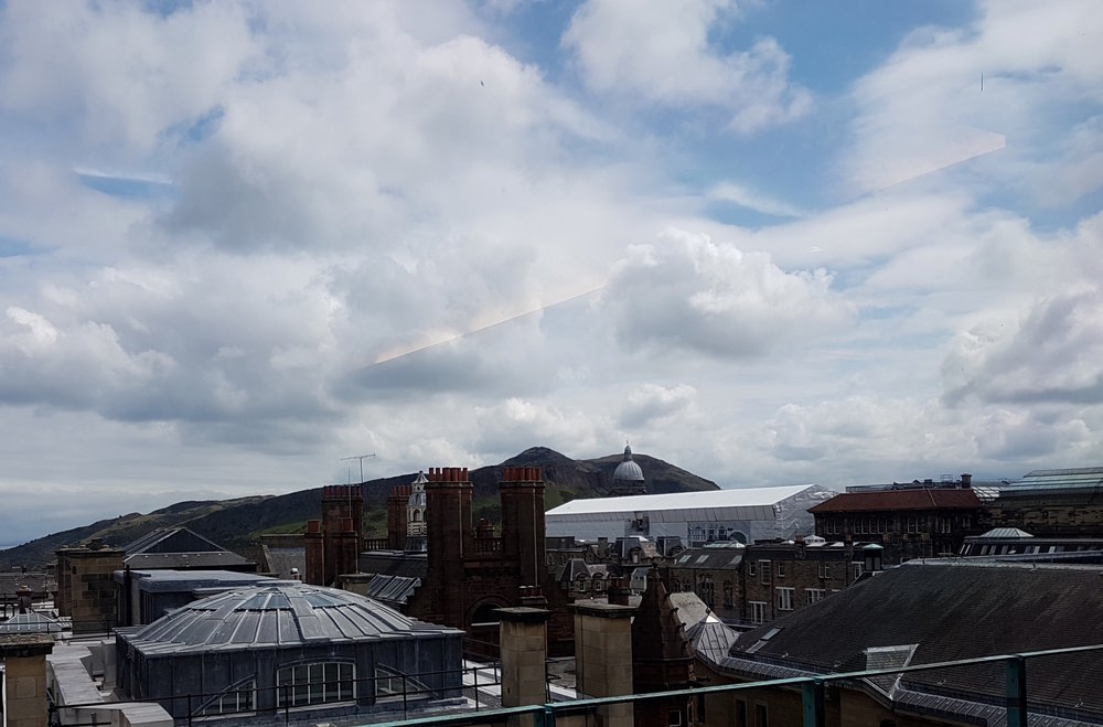 Not a bad view from the National Library of Scotland!