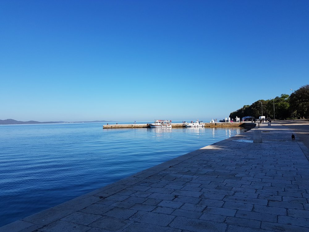 Walking to the jetty in Zadar.