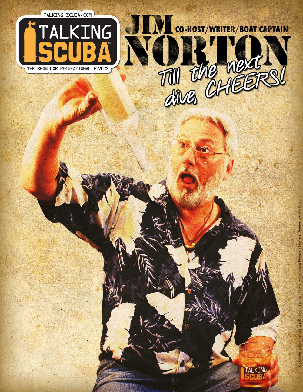 Promotional Poster for Talking Scuba with Jim Norton