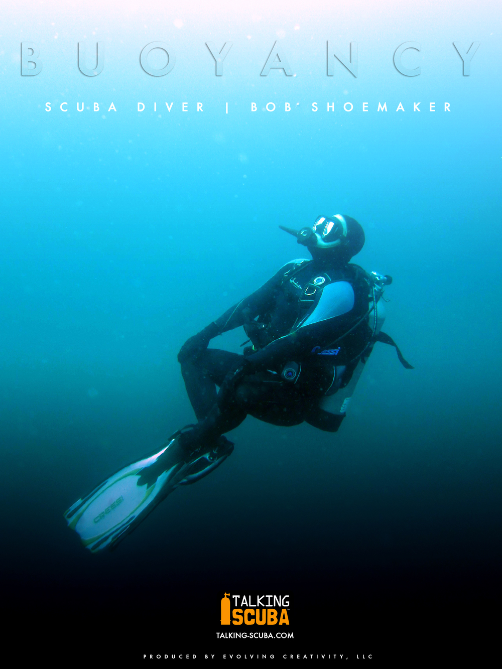 Promotional Poster for Talking Scuba featuring Bob Shoemaker
