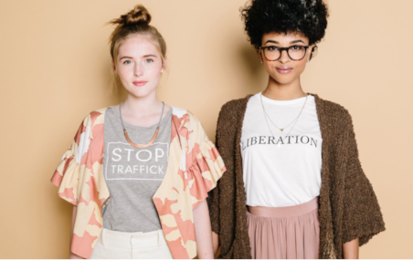 ethical female empowerment shirts