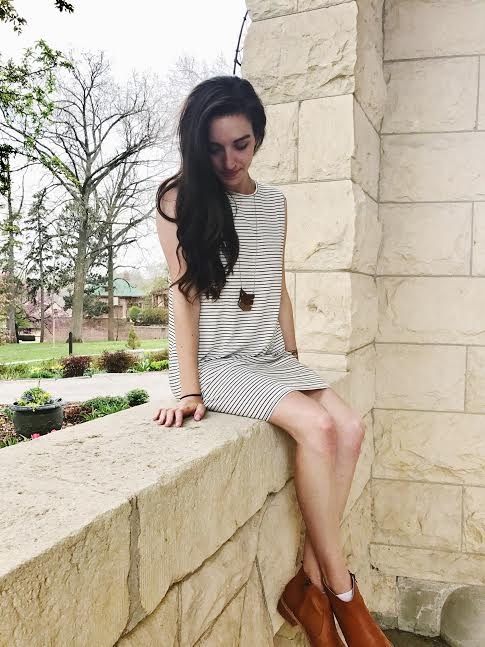 ethical striped summer dress