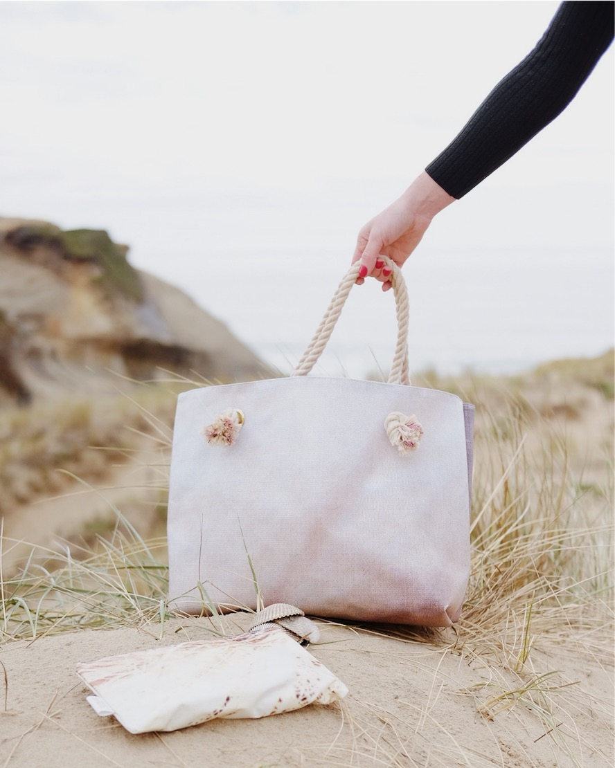 sustainable beach tote