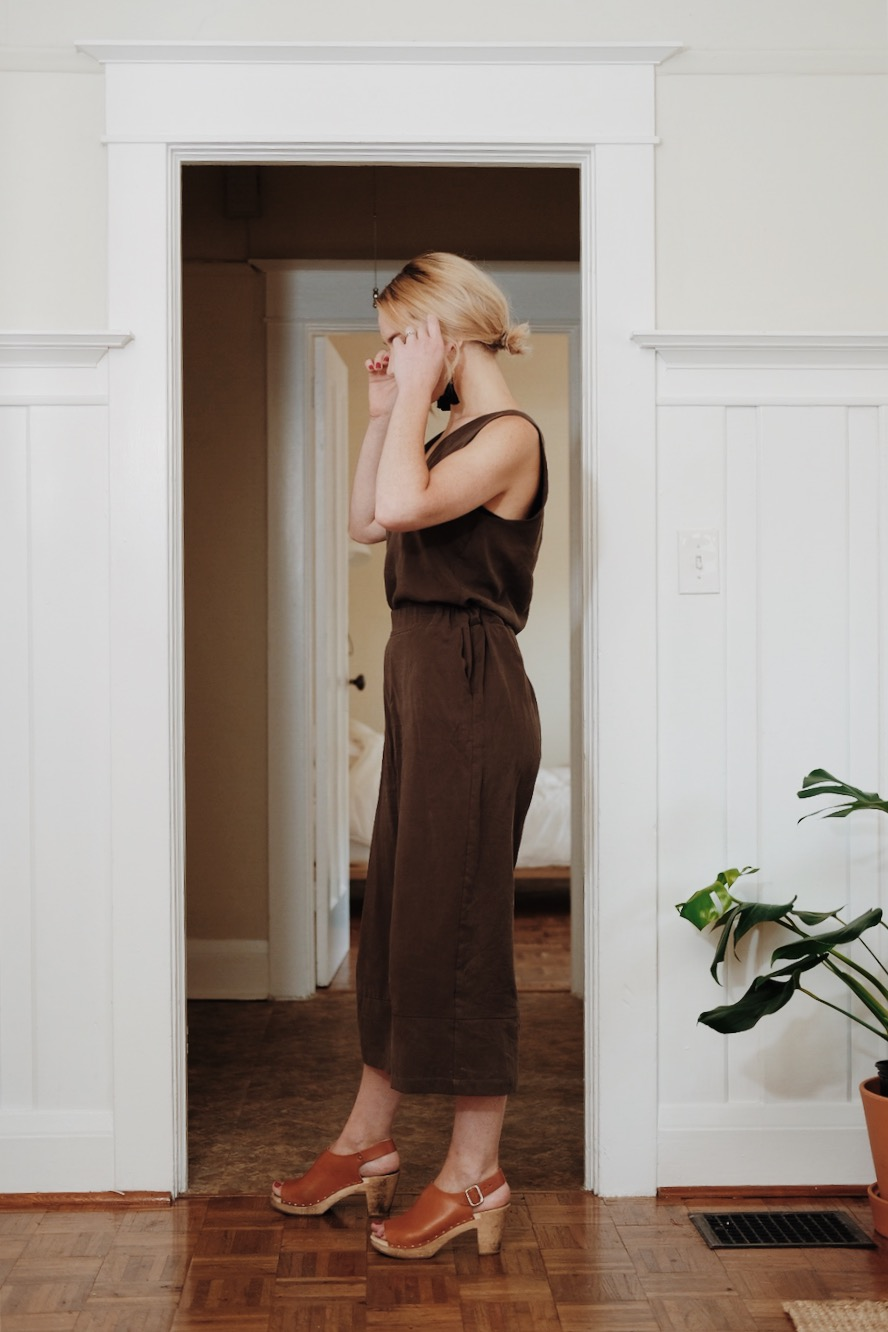 Sustainable Ethical Faux Jumpsuit