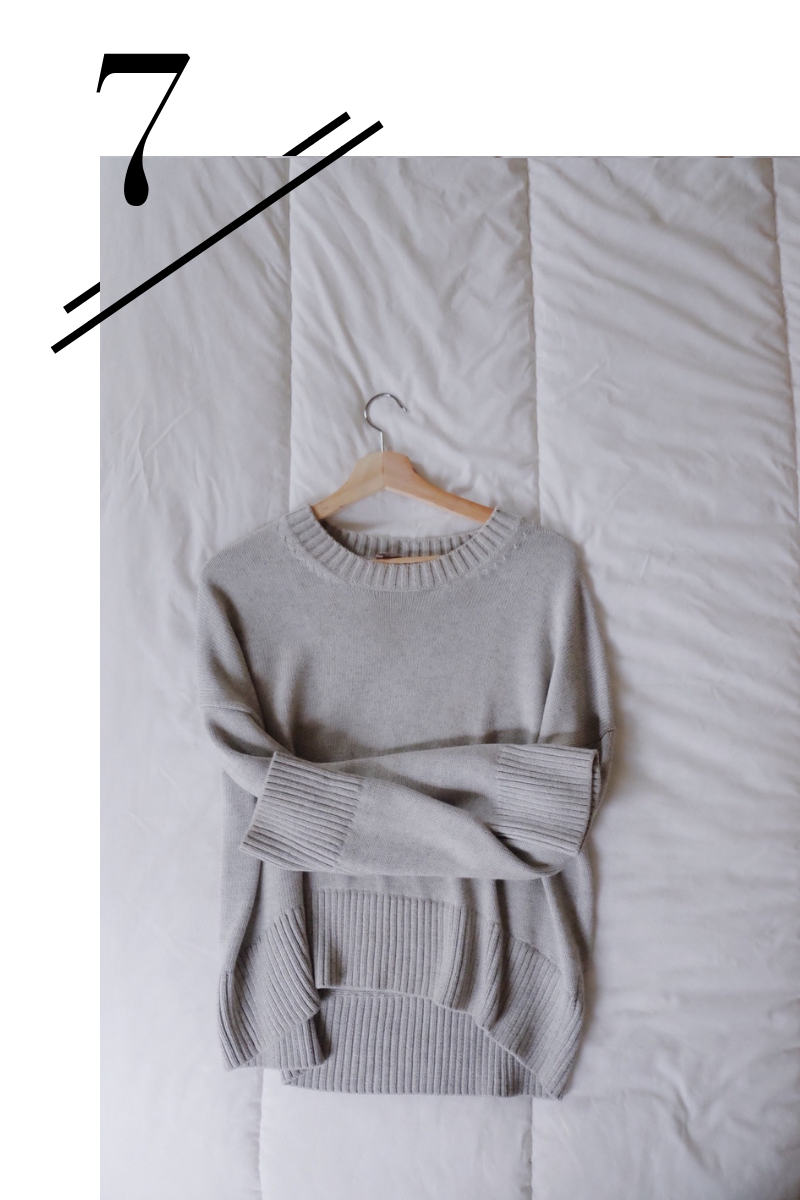 Boxy Sweater - I love wearing this alone or under a denim jacket with the sleeves rolled up for a casual look.(Find it here.)