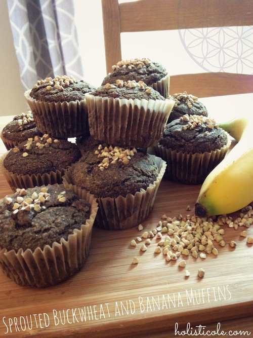 Sprouted Buckwheat & Banana Muffins