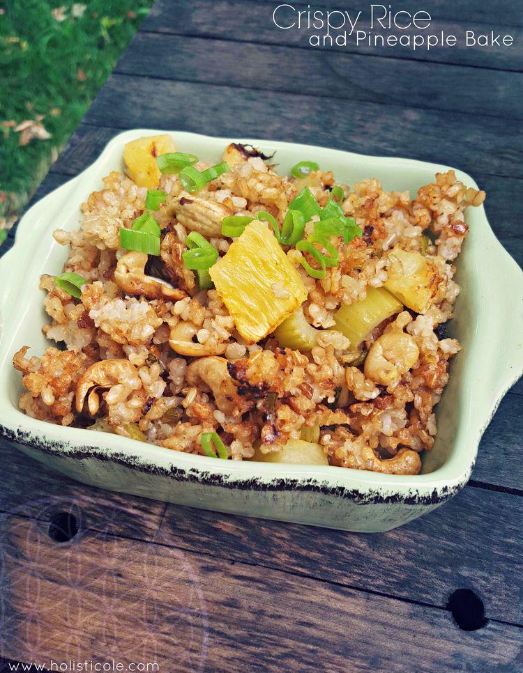 Crispy Rice & Pineapple Bake