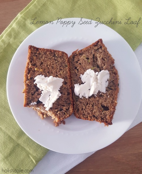 Lemon Poppy Seed Zucchini Loaf