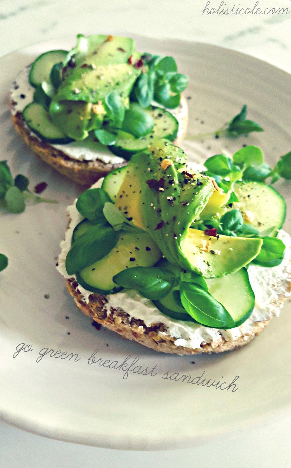 go green breakfast sandwich