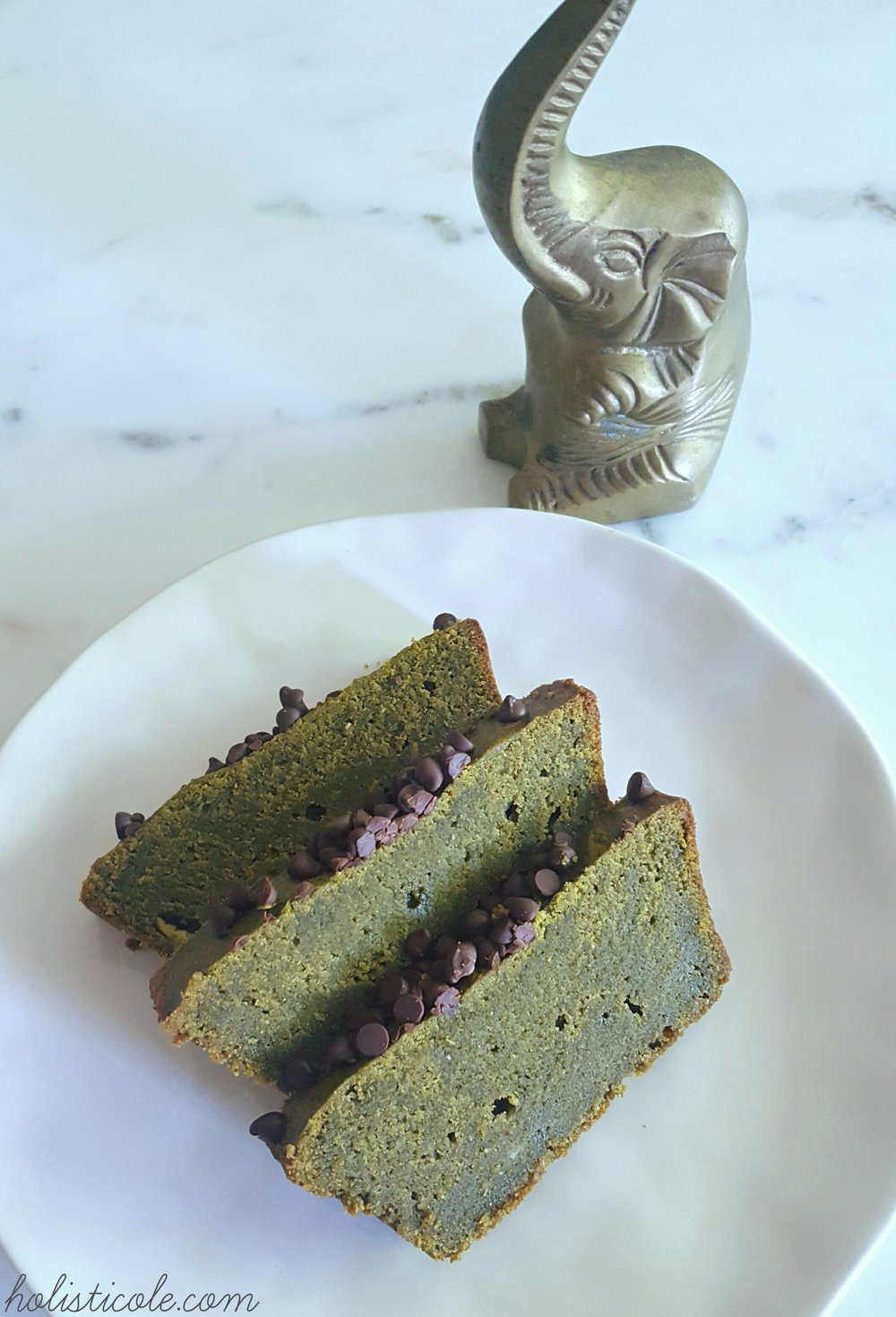 Holisticole - Matcha Green Tea Banana Bread