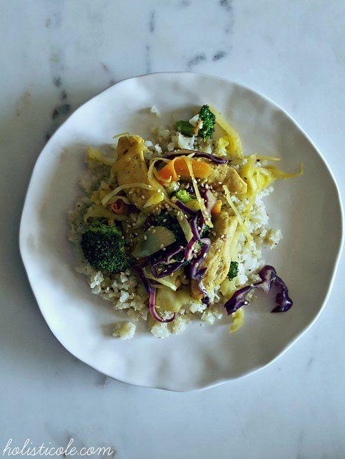 Holisticole - Paleo Chicken Stir Fry with Cauliflower Rice
