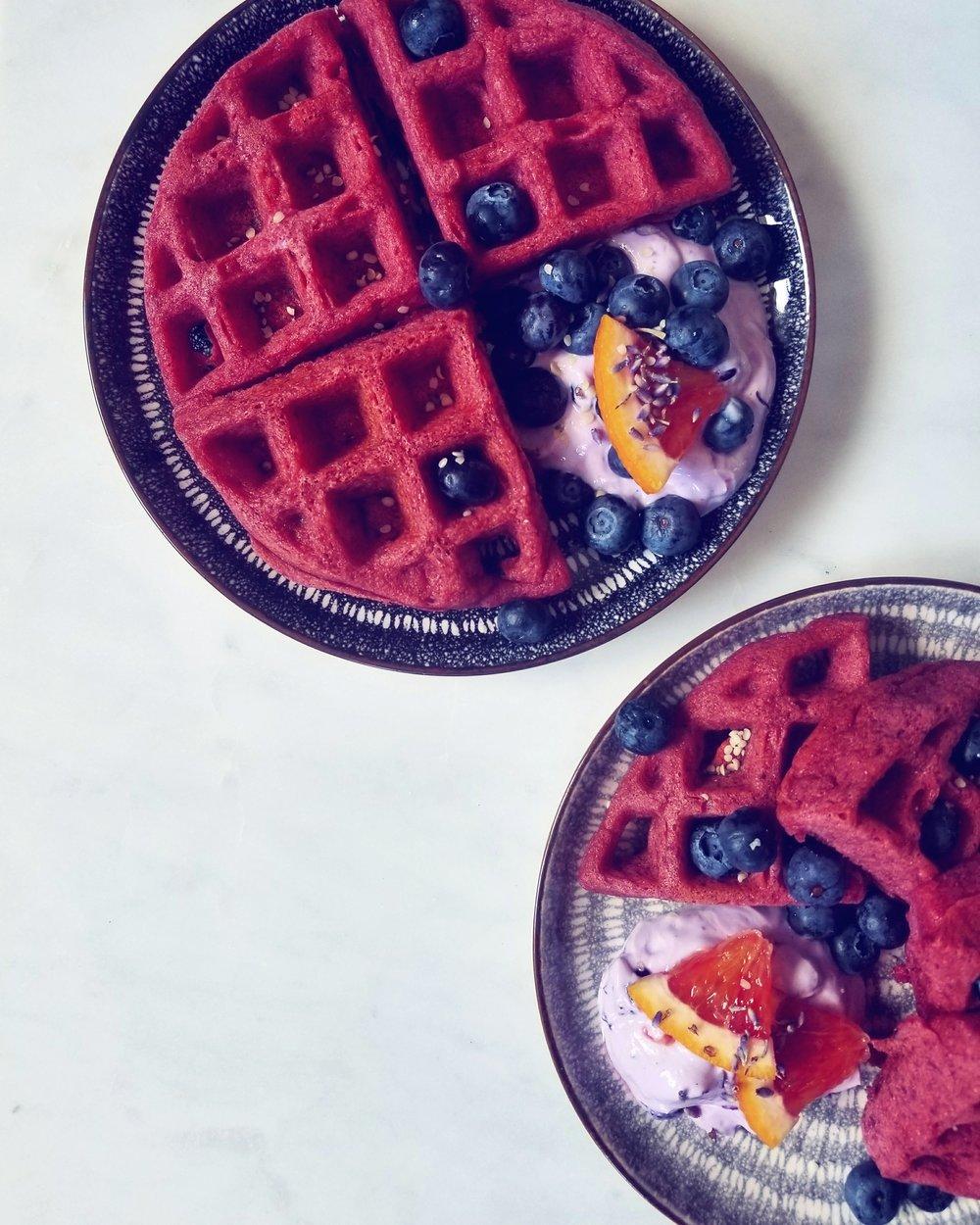 Holisticole - Gluten-Free Beet Waffles