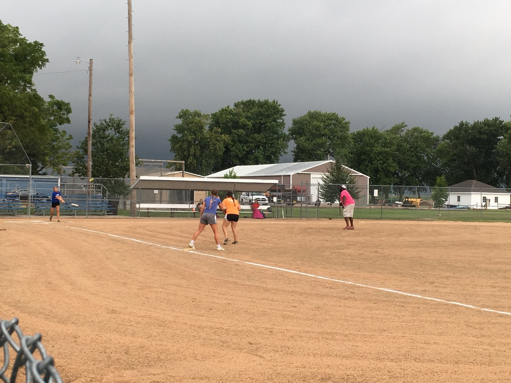 Sunday morning softball before the storm.