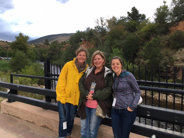 Hope, Emily and Emily in Lyons, CO last week.