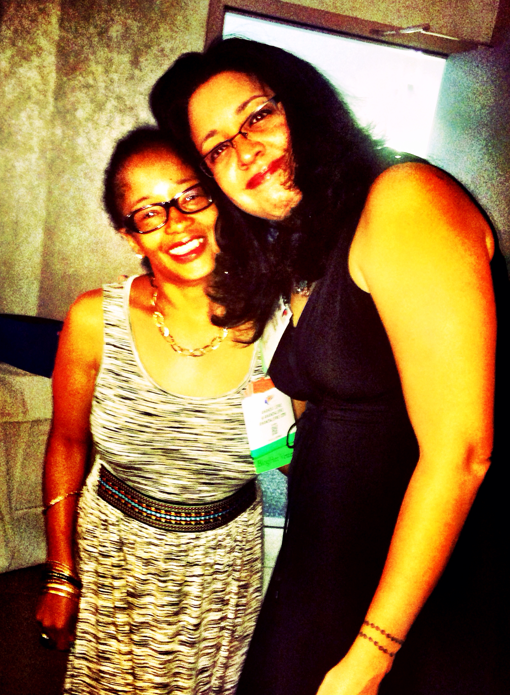 My #multiculti sisters, Ananda and Dwana. Serious love, y'all...