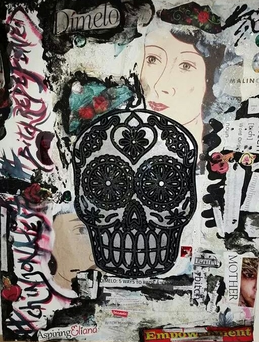 Autobiography, Mixed Media on Canvas by Pauline Campos