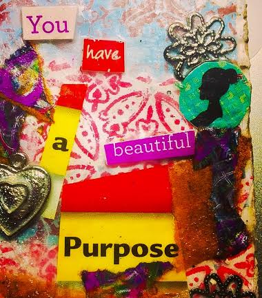 Beautiful Purpose, MIxed Media #CQC #ACEO by Pauline Campos Studios