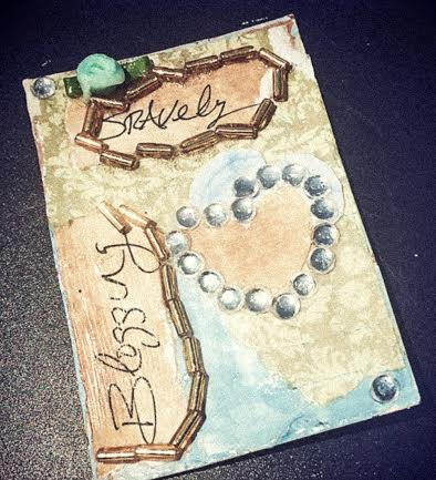 Blogging Bravely, Mixed Media #CQC #ACEO by Pauline Campos Studios