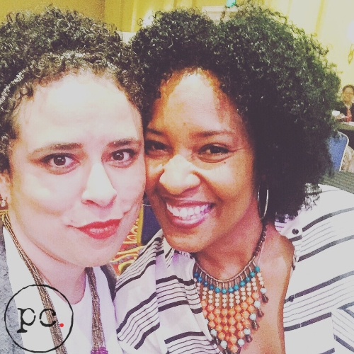 After the Evolve or Die panel at Be Blogalicious with fellow speaker, Karen Walrond. Yes, I fan-girled. No, I am not ashamed.