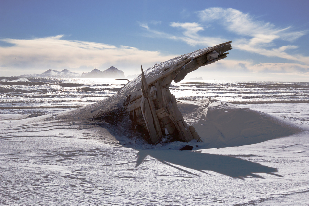 Shipwreck on Landeyjahöfn Beach