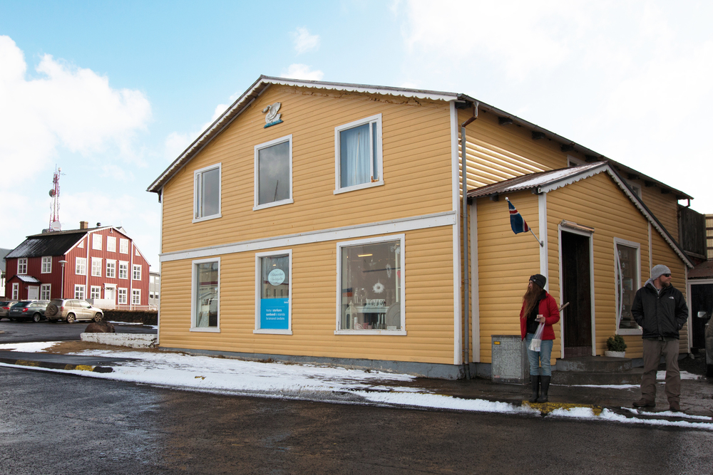 "This shop in Stykkishólmur served as the karaoke bar in ""The Secret Life of Walter Mitty"" where Kristin Wiig sings Space Oddity to Ben Stiller as he jumps into a departing helicopter."