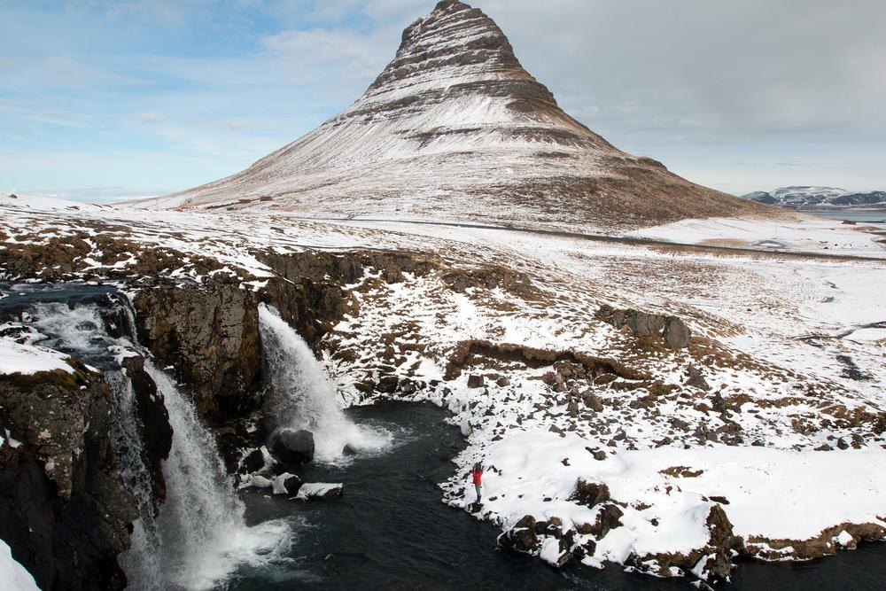 Mt. Kirkjufell and waterfall Kirkjufellsfoss