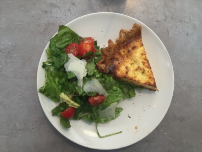 "Root vegetable and feta quiche--the quiche special off of the ""Plates"" section of the menu (PC: Mika Deshmukh)"