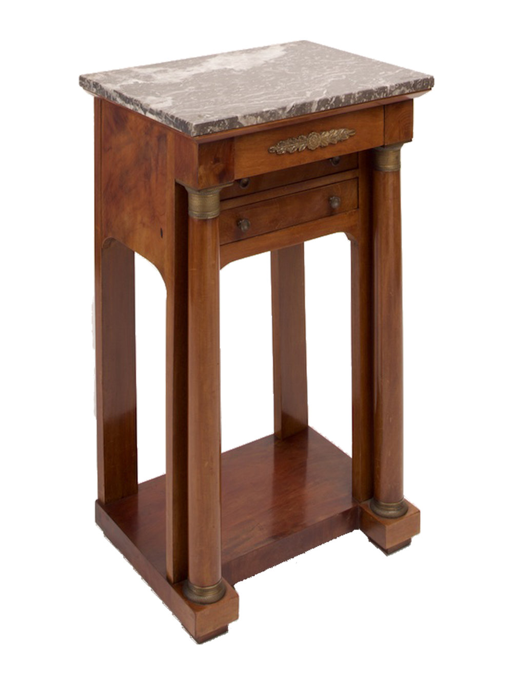 Antique French Empire Style Side Table / Bedside Table