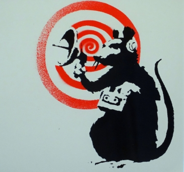 BANKSY  |  Radar Rat (Album Cover)   12 x 12