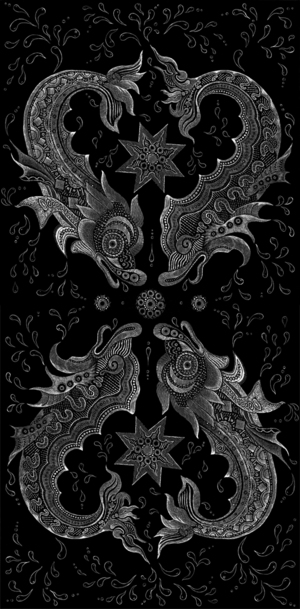 DAVID WELKER   |   Infinity Fish   Silkscreen | Edition of 50 | 12 x 24 | Signed and Numbered