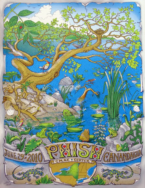 DAVID WELKER   |  Phish - CMAC    Silkscreen | Edition of 550 | 18 x 24 | Signed and Numbered