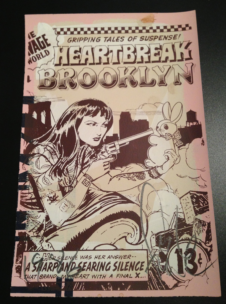 FAILE  |  Heartbreak in Brooklyn   Acrylic and Silkscreen | Edition of 250 | 12.5 x 19 | Signed and Numbered