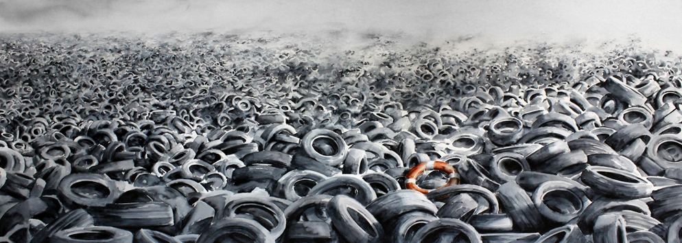 PEJAC  |  Heavy Sea   Acrylic and Silkscreen | Editon of 70 | 40 x 28.75 | Signed and Numbered