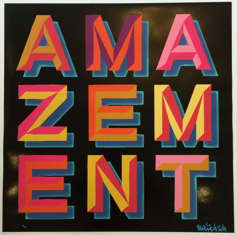 BEN EINE  |  Amazement   Silkscreen | Edition: 25 | 24 x 24 | Signed and Numbered